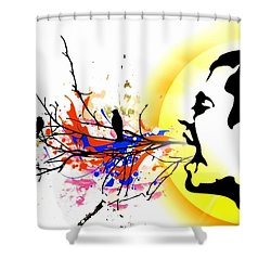 Happiness Must Be Born Within Us 1 Shower Curtain