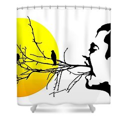 Happiness Must Be Born Within Us 2 Shower Curtain