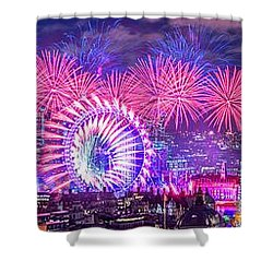 Happy 2018 Shower Curtain