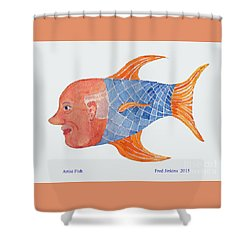 Happy Artist Fish Shower Curtain