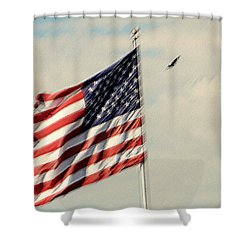 Happy Birthday America Shower Curtain by Susanne Van Hulst
