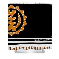 Happy Birthday Card Shower Curtain