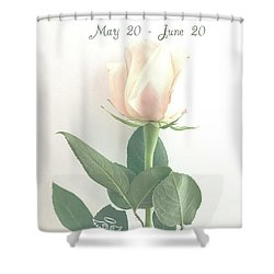 Happy Birthday Gemini Shower Curtain