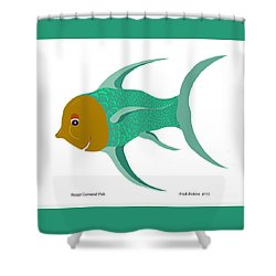 Happy Carnival Fish Shower Curtain