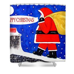 Happy Christmas 12 Shower Curtain by Patrick J Murphy