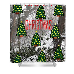 Happy Christmas 22 Shower Curtain by Patrick J Murphy
