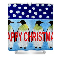 Happy Christmas 24 Shower Curtain by Patrick J Murphy