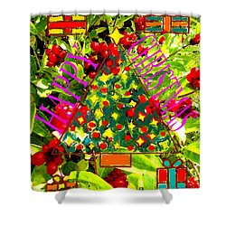 Happy Christmas 25 Shower Curtain by Patrick J Murphy