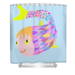 Happy Clown Fish  Shower Curtain by Fred Jinkins