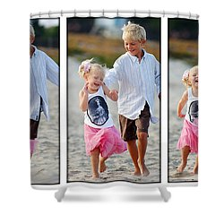 Happy Contest 15 Shower Curtain by Jill Reger