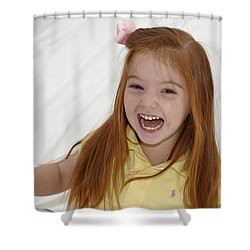Happy Contest 6 Shower Curtain by Jill Reger
