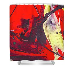 Happy Cow -  Cute Abstract Animals Art Shower Curtain