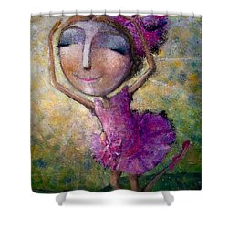 Happy Dance Shower Curtain by Eleatta Diver