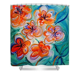 Happy Day Bright  Shower Curtain
