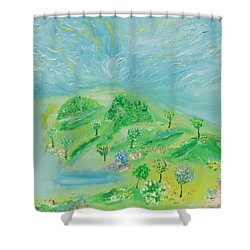 Happy Days. Landscape Shower Curtain