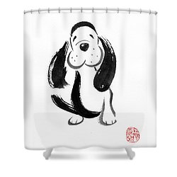 Happy Dog Shower Curtain