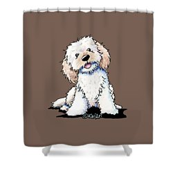 Happy Doodle Puppy Shower Curtain