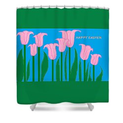 Happy Easter 1 Shower Curtain by Linda Velasquez