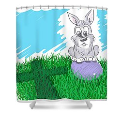 Happy Easter Shower Curtain by Antonio Romero
