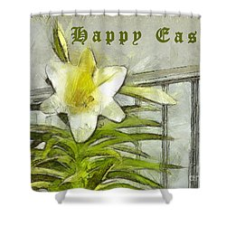 Shower Curtain featuring the photograph Happy Easter Lily by Claire Bull
