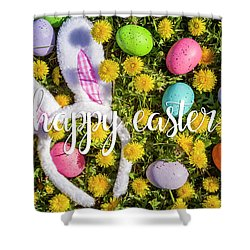 Shower Curtain featuring the photograph Happy Easter by Teri Virbickis
