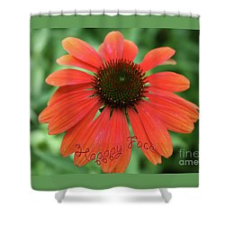 Happy Face Flower Shower Curtain