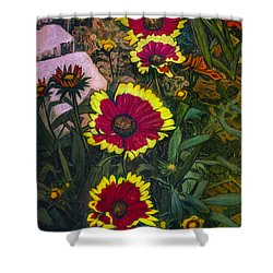 Happy Faces Shower Curtain by Ron Richard Baviello