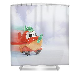 Happy Flying Shower Curtain