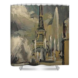 Happy Fountains At Trocadero Shower Curtain
