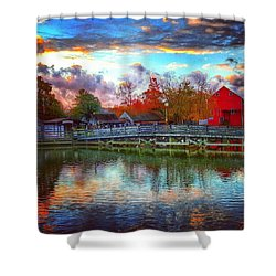 Reflections At Smithville Shower Curtain