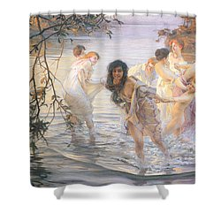 Happy Games Shower Curtain by Paul Chabas