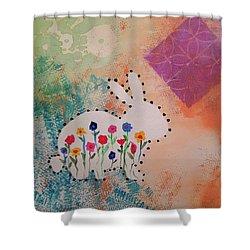 Happy Garden Shower Curtain