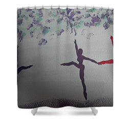 Happy Girl Shower Curtain