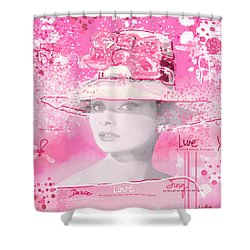 Happy Girl Shower Curtain by Sladjana Lazarevic