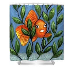 Shower Curtain featuring the painting Happy Goldfish by Sandra Estes