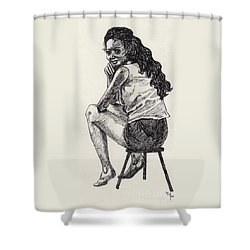 Happy Greeting Shower Curtain by Annemeet Hasidi- van der Leij