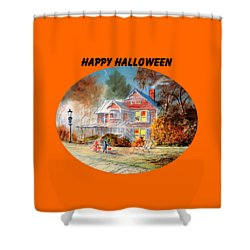 Happy Halloween Shower Curtain by Bill Holkham
