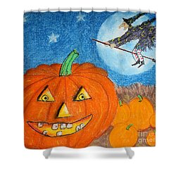 Happy Halloween Boo You Shower Curtain