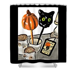 Happy Halloween Shower Curtain by Jean Pacheco Ravinski