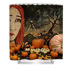 Happy Halloween Shower Curtain by Jeff Burgess