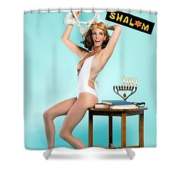 Shower Curtain featuring the photograph Happy Hanukkah 2 by Lisa Piper