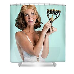 Happy Hanukkah 3 Shower Curtain