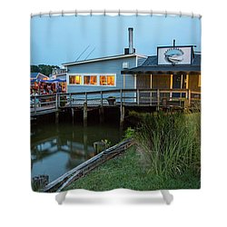 Happy Harbor Shower Curtain