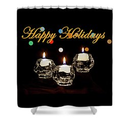 Shower Curtain featuring the photograph Happy Holiday Candles by Ed Clark