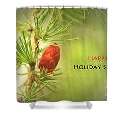 Shower Curtain featuring the photograph Happy Holiday Season Card by Aimelle