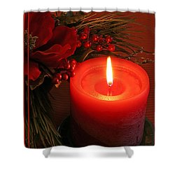 Happy Holidays #1 Shower Curtain by Teresa Zieba