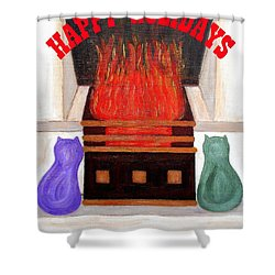 Happy Holidays 14 Shower Curtain by Patrick J Murphy