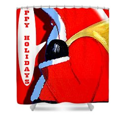 Happy Holidays 6 Shower Curtain by Patrick J Murphy