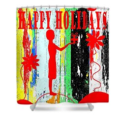 Happy Holidays 62 Shower Curtain by Patrick J Murphy