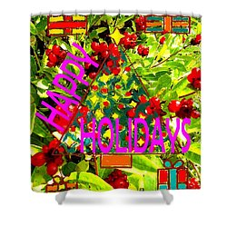 Happy Holidays 9 Shower Curtain by Patrick J Murphy